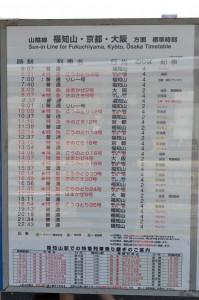福知山方面時刻表